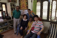 WITH INDIAN FAMILY