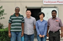 Customer visit us