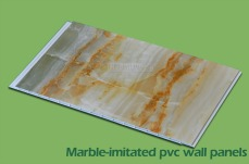 Marble-initated wall panels