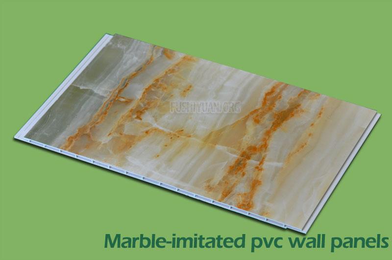 Marble-initated wall panels