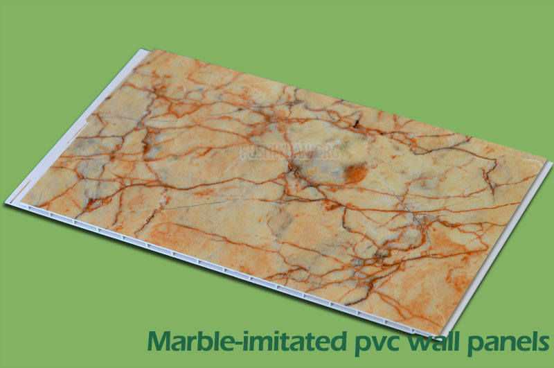 Marble-initated wall panel