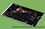 Marble-initated PVC wall panel